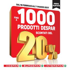 Volantino interspar a este offerte e orari for Volantino offerte despar messina